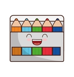 Colors face class school instrument icon vector