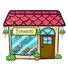 A flower shop vector