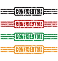 Confidential stamp set vector