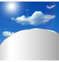 Abstract background with sky sun and clouds vector
