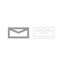 mail grey set icon vector image