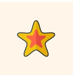 Star travel flat icon vector