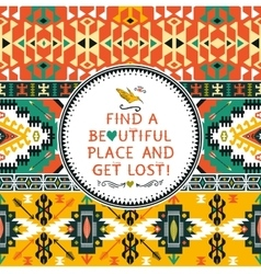 Seamless colorful tribal pattern vector
