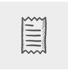 Receipt sketch icon vector