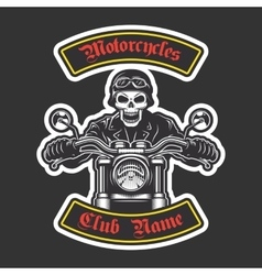 Classic biker embroidery vector