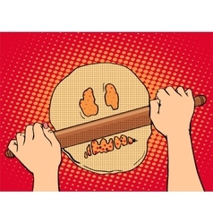 Bad dough cooking bakery vector