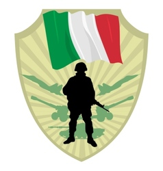 Army of italy vector