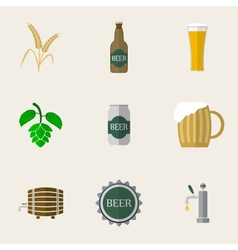 Beer Flat Icons vector image vector image