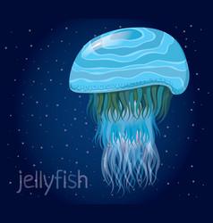 Fantastic jellyfish vector