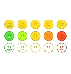 Feedback emoticon concept vector image