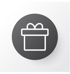 Gift icon symbol premium quality isolated present vector