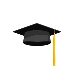 Graduation cap academy hat vector image