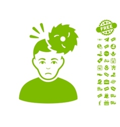 Headache icon with free bonus vector