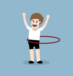 Hula hoop exercise vector
