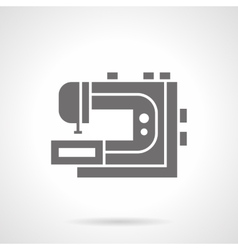 Professional sewing machine glyph icon vector image vector image