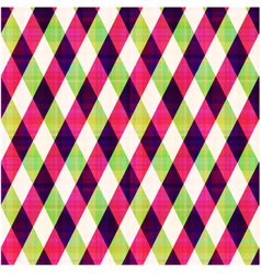 seamless abstract geometric checkered pattern vector image vector image