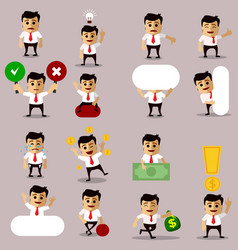 Set of manager or business man character vector