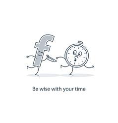 Social media abuse concept vector