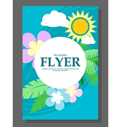 Spring sale concept hanging flowers roll-up banner vector