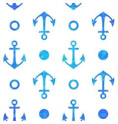 Stylish geometric seamless nautical pattern vector
