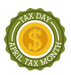 Tax design vector image