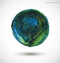 Watercolor Earth vector image
