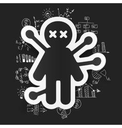 Drawing business formulas voodoo Doll vector image