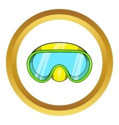 Goggles for diving icon vector