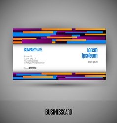 Business card with abstract lines vector