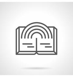 Fantasy novel simple line icon vector