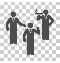 Discuss standing persons icon vector