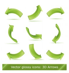 3d arrows set vector