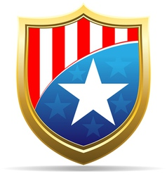 American badge vector