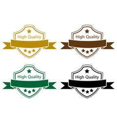 high quality label color set vector image