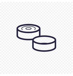 Game of checkers line icon checkers figure thin vector