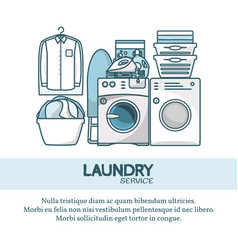 laundry service concept in vector image