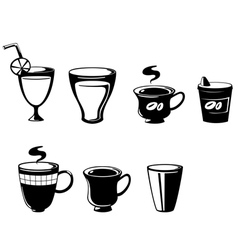 Set drink vector