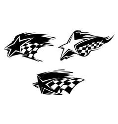 Racing symbols vector image