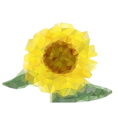 Abstract sunflower drawing with triangles vector