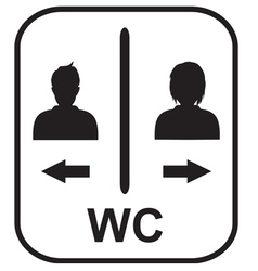 Toilet symbol male and female toile vector