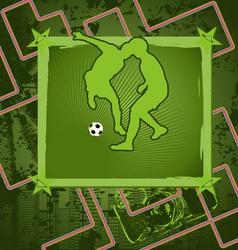 soccer vintage frame vector image