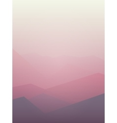 Pink mountain vector