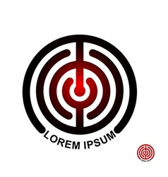 Circle in terms of logo maze emblem labyrinth vector
