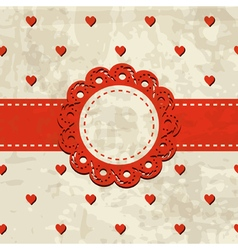 vintage background with a frame vector image