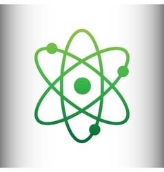 Atom sign green gradient icon vector