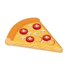 Delicious fast food italian pizza theme design vector