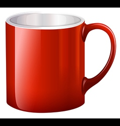 A handy red mug vector