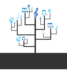 Abstract tree music vector