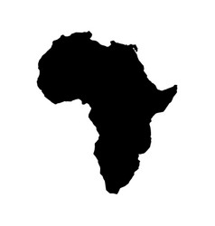 africa map isolated icon vector image vector image