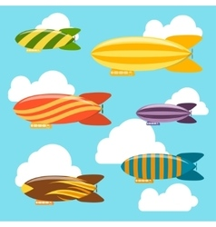 Airships Background vector image